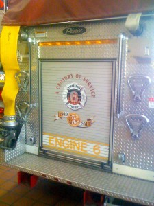 Logo on Engine 6 - Flourtown Fire Company