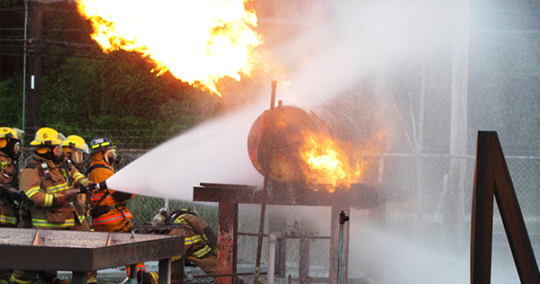Firefighter II Class Attends PECO Energy Training Facility